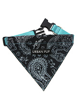 Black & Blue  Paisley Bandana - The Paisley pattern has its origins in Ancient Babylon but is now synonymous with the town of Paisley in Scotland. We thought it would look class on your dog.Just attach your lead to the D ring and this stylish Bandana can also be used as a collar. It is lightweight and incredibly strong. You can be...